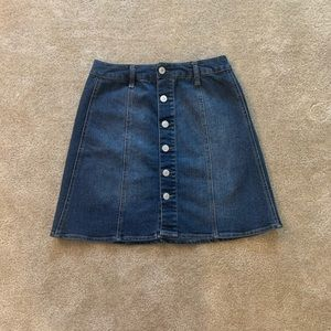 Mossimo Button Up Jean Skirt
